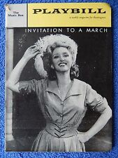 Invitation To A March - Music Box Theatre Playbill w/Ticket -  February 1961