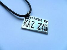 Supernatural Car Number Plate KAZ 2Y5 Pendant Dean Winchester Necklace