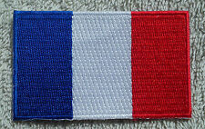FRANCE FLAG PATCH Embroidered Badge Iron Sew on 4.5cm x 6cm Français French NEW