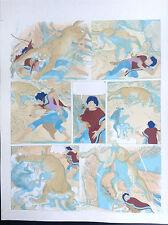 UNIQUE Bleu coloriage Mise en couleur avec premier tirage Chiwana Malik PL 3