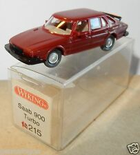 MICRO WIKING HO 1/87 SAAB 900 TURBO MARRON in box