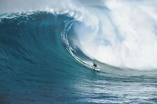 "Lets go Surfing photography poster 24x36"" Surfing a huge wave on board"