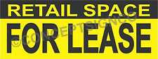 1.5'X4' RETAIL SPACE FOR LEASE BANNER Outdoor Sign Real Estate Property Business