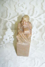 ANTIQUE CARVED CHINESE STONE BUDDHA FIGURE