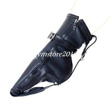 One Pair BDSM Fetish Feet Bondage zip Booties Restraint straps Fancy Gift Foot