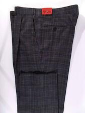 NWT ISAIA pantalone uomo CLASSICO sartoriale LANA quadri A/I tg. 52(IT) 36(US)