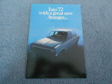 VINTAGE 1972 CHRYSLER HILLMAN AVENGER DEALER SALES BROCHURE ENGLAND UK