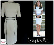 PER UNA 12 IVORY  / BLACK BUSINESS WORK OFFICE CASUAL ALL OCCASION DRESS BNWT 12