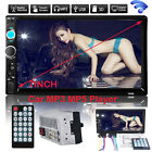 """Double 2 Din 7"""" Car DVD CD MP5 Player TouchScreen In Dash Stereo Radio Bluetooth"""