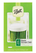 Ball Wide Mouth Plastic Storage Lids  Mason Canning Jar Caps Lot of 8 NEW