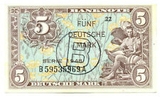 Germany Federal Republic US Army Command 5 Deutsche Mark 1948 VF+/XF West Berlin