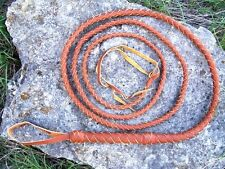 NEW 10ft LEATHER Bull Whip Indiana Jones Costume Horse Riding Rodeo Bullwhip 4P