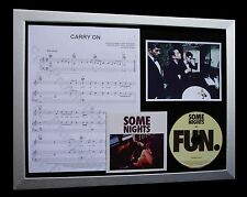 FUN Carry On LTD CD MUSIC FRAMED DISPLAY+SOME NIGHTS+EXPRESS GLOBAL SHIPPING