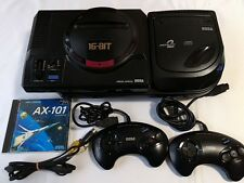 SEGA Mega Drive and MEGA-CD 2 console set(GENESIS)/with,2 pads,,AV cable,Game-C-