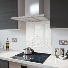 White  Cosmos Speckle Glass Splashback In 60cm X 75cm