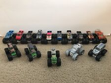 Lot of 15 MONSTER JAM 1/64 Die Cast Toy Trucks Hot Wheels Grave Digger more....