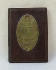 Rare John Wanamaker of Philadelphia Pall Mall brass trophy plaque!
