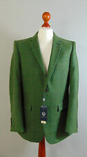 British VIYELLA Mens Green Overcheck Tweed Vintage Fine Wool Suit Jacket 42R NEW