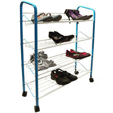 MESH - 4 Tier Metal Shoe / Book / CD / DVD Storage Rack - Black YRIHSH460BKLB