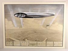 C1933 | Finley Aerocruiser | Originale Acquerello a guazzo dal | futuristico DIRIGIBILE