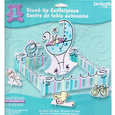 BABY SHOWER Boy or Girl CARRIAGE CENTERPIECE ~ Party Supplies Decorations Reveal