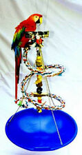PARROT MEDIUM HANGING PLAY-GYM w/Tray-Toy-Cup