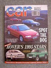 Car (Jan 1993) VW Corrado VR6, BMW M3, Rover 220, Alfa Romeo RZ, Lancia Hyena