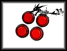 Sportbike Reflectors Scooter Reflectors Mini Size Small 2 Pairs Red 003