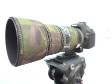 Nikon 70 200mm f4 VR Neoprene lens protection camouflage coat cover : green camo