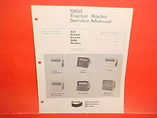 1968 JACOBSEN FORD JOHN DEERE ALLIS CHALMERS TRACTOR BENDIX RADIO SERVICE MANUAL