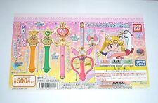 Bandai Sailor Moon 20th Wand Charm Part 2 Gashapon Toy Machine Paper Card