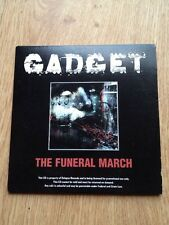 Gadget The Funeral March Promo Cd 17 Tracks Relapse Recs New Grindcore