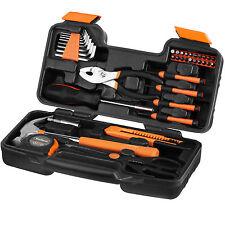 VonHaus 39 Piece Home Garage DIY Multi Hand Tool Set Kit Box with Travel Case