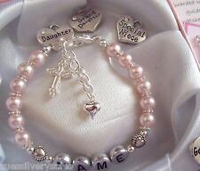 Stocking filler / Bridesmaid present gift boxed personalised bracelet