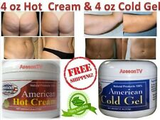 AMERICAN HOT CREAM & COLD GEL COMBO BODY FAT fast! BURNER WEIGHT LOSS SLIMMING