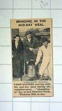 1939 Low Thornley Farm Winlaton Mill Farm Helpers Midday Meal