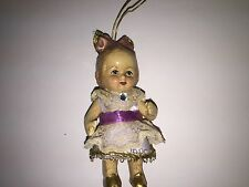 Vintage Babydoll Christmas Ornament Decoration Katherine's Collection in Purple