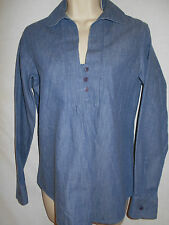 Coldwater Creek Denim Blouse XS Womens 4 Top Blue Shirt Long Sleeves 6m15