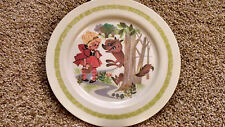 Vintage Oneida Deluxe Childrens Little Red Riding Hood Plate #3119 1960's RETRO