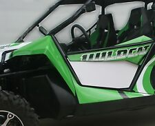 Arctic Cat Wildcat 1000 Door Panel Inserts (WHITE) FRONT - de Anza Works