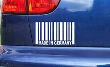 150mm (15cm) Made in Germany Barcode Sticker Decal Funny JDM DUB EURO VW RAT
