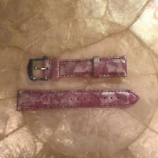 MICHELE DECO CSX 18mm PINK FLORAL LEATHER WATCH STRAP MS18AA270677 - FRANCE