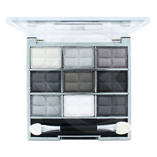 Laval 9 Pc Eye Shadow Palette Grey Collection White Black Silver Matte & Shimmer