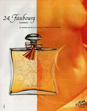 Publicité Advertising 1996  Parfum  24 , Faubourg  HERMES