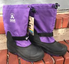 Kamik Boots Waterproof Round Toe Insulated Rubber Womens Sz 7 -40°F NWT