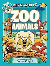 Cartoon Chef Zoo Animals: Learn to Draw and Cook