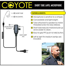 Tactical Ear Gadgets COYOTE Lapel Mic Headset for ICOM COBRA RITRON (See List)