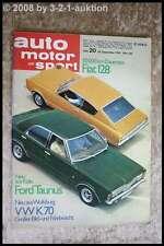 AMS Auto Motor Sport 20/70 Porsche 914/6 VW K70 Matra 530 XL