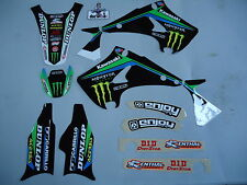Kawasaki KX125 KX250 03-07 Team Monster Energy completo kit grafica+plastiche