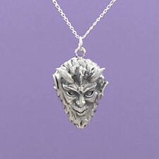 """925 Sterling Silver """"Pan Man God of Nature"""" 18""""/20"""" Anhänger A866"""